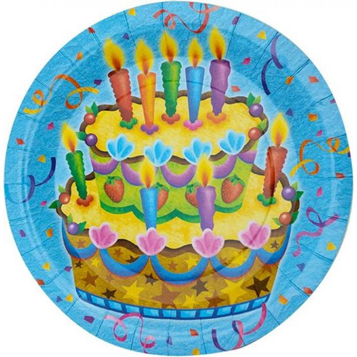Тарелки ламинированные Праздничный торт 6шт
