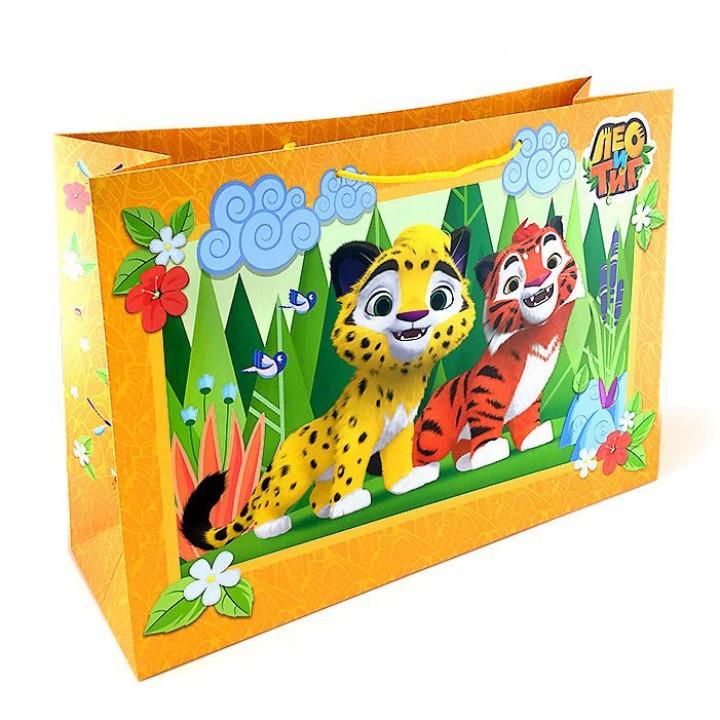 Пакет подарочный Лео и Тиг 52*35*17см