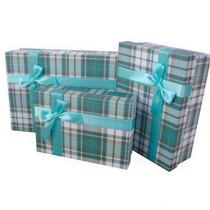 КоробкаСтрогий Зеленый прямоугольник 29*21,5*10 см