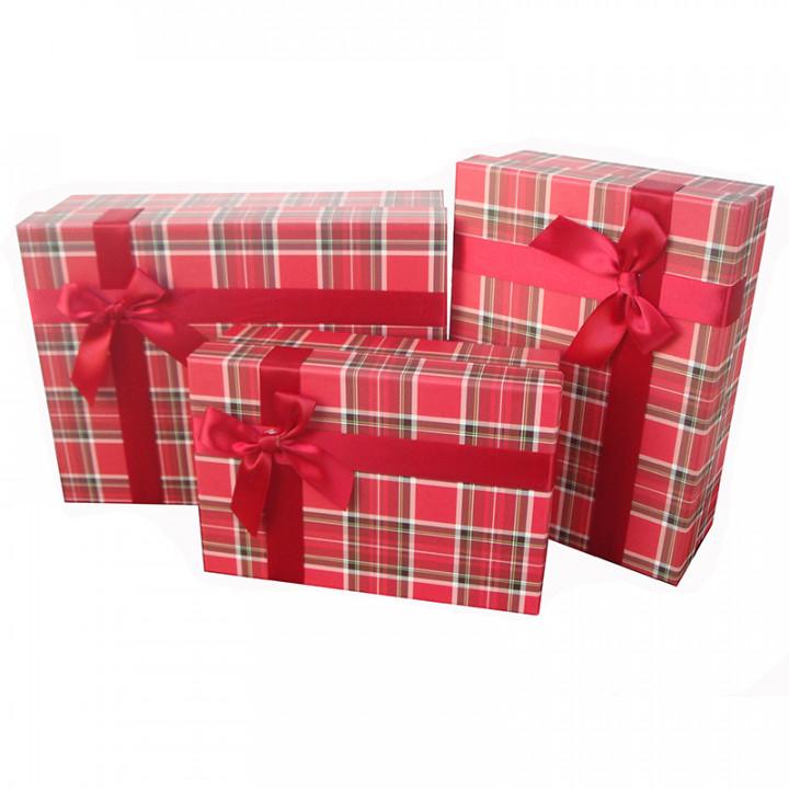 Коробка Строгий вишневый прямоугольник 22,5*15*7,5 см
