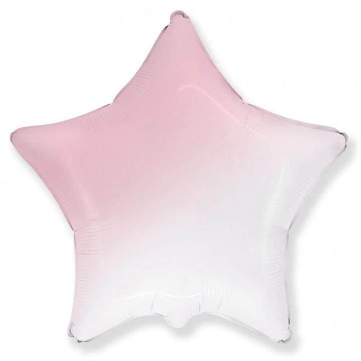Звезда Бело-Розовая градиент