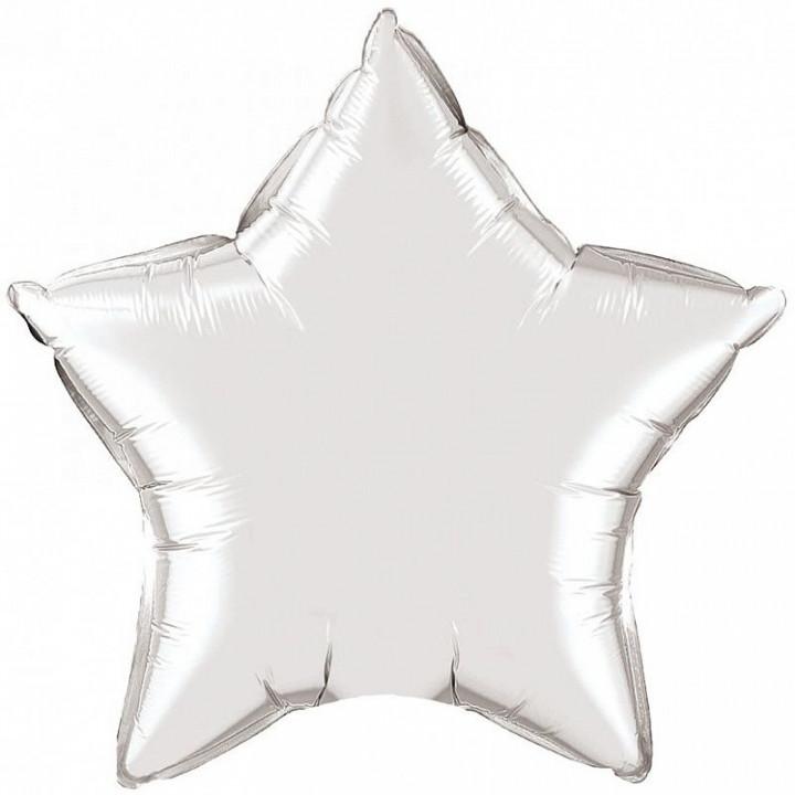 Звезда Серебряная в упаковке 5 шт