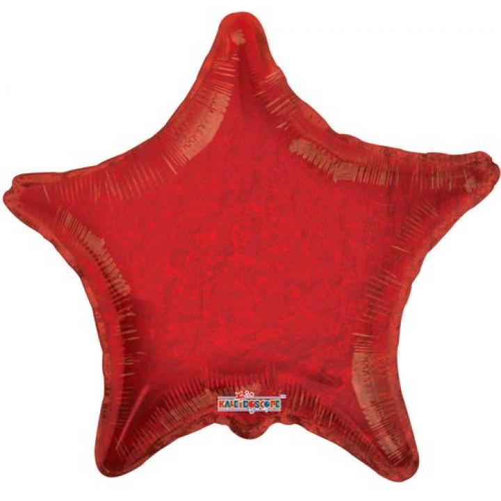 Звезда Голография красный