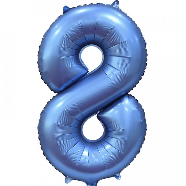 Шар (34''/86 см) Цифра, 8, Синий