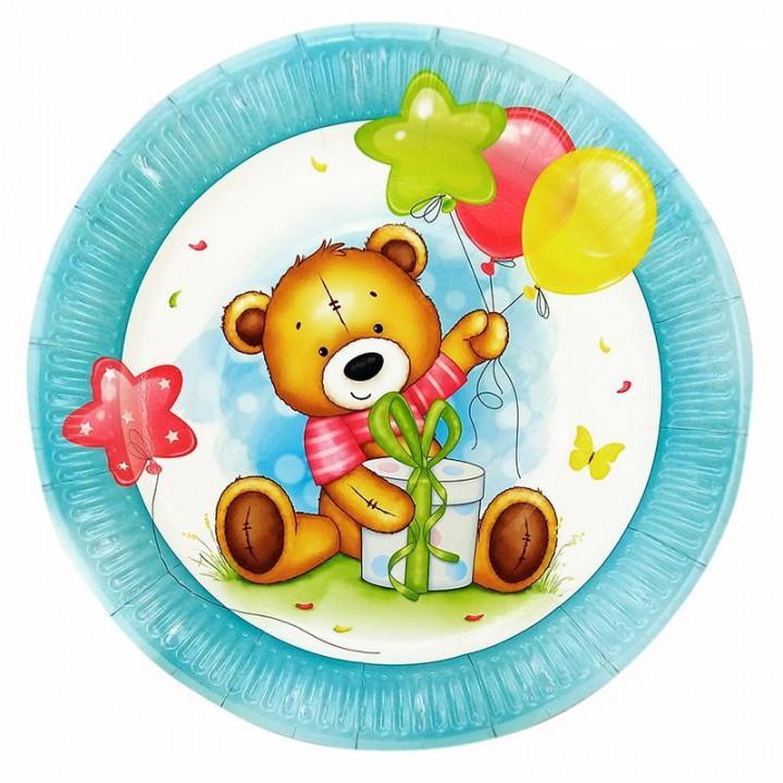Тарелки С Днем рождения Милый Мишка