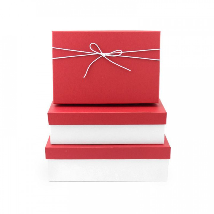 Коробка Элегантность Красный прямоугольник 29*21*9см