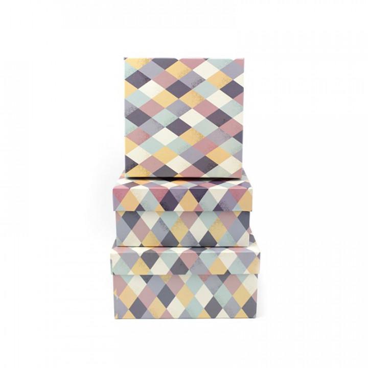Коробка Ромбы квадрат 15,5*12*6,5 см