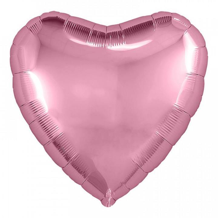 Фольгированный шар сердце фламинго
