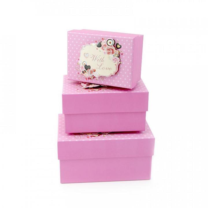 Коробка Любовь и шоколад Розовый 15,5*11*8 см