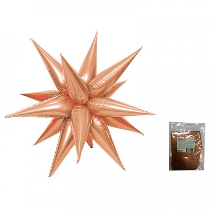 Звезда составная 12 лучиков Розовое Золото уп.