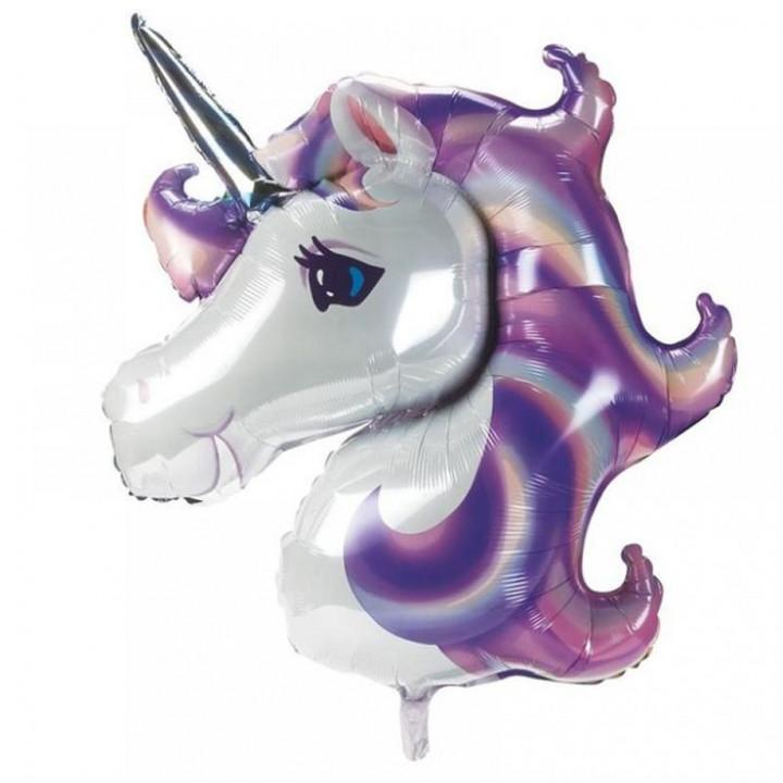 Голова единорога  фиолетовая