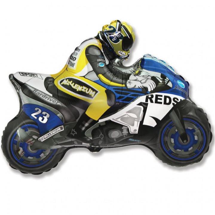 Мотоцикл синий