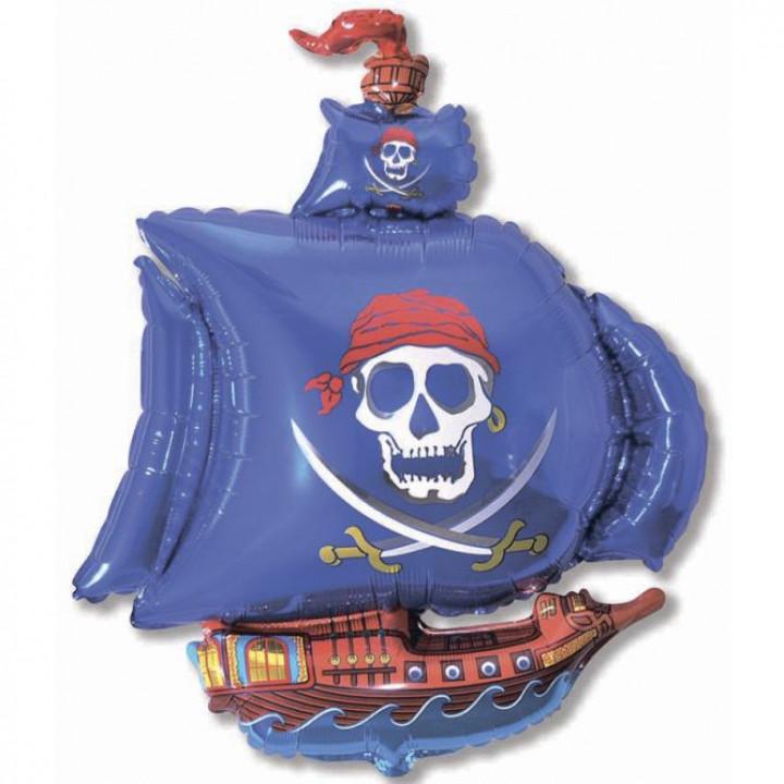 Пиратский корабль (синий)