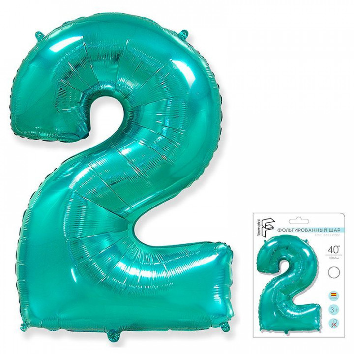 Цифра 2 тиффани в упаковке