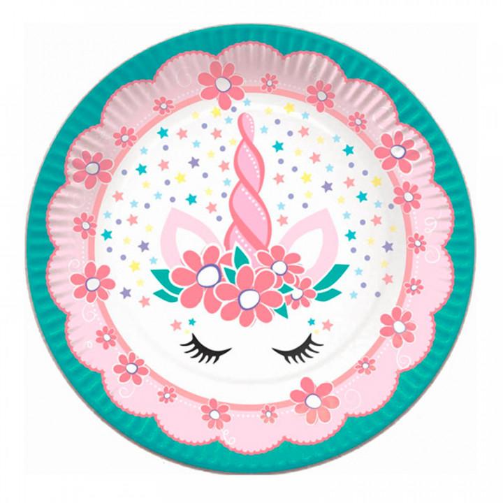 Тарелки бумажные Единорог Pink&Tiffany 6шт