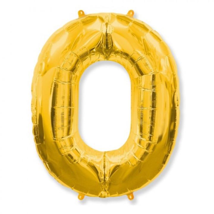 FM Фигура Цифра 0 золото 36