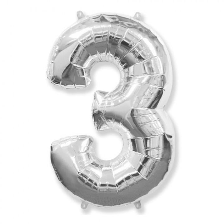FM Фигура Цифра 3 серебро 36