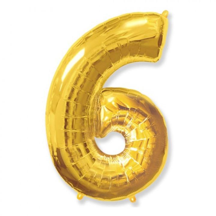 FM Фигура Цифра 6 золото 36