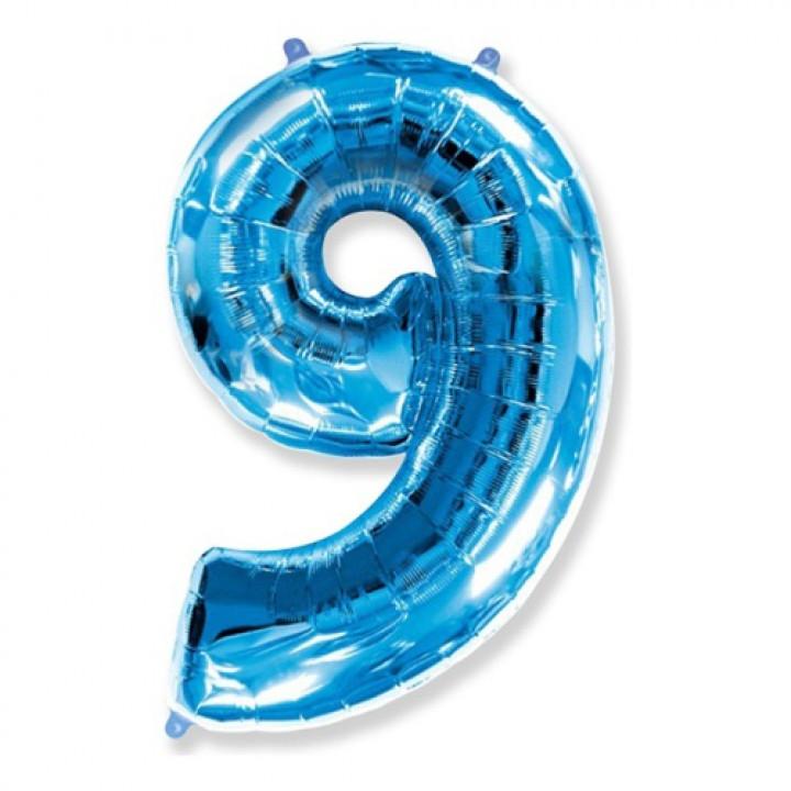 FM Фигура Цифра 9 голубая 36