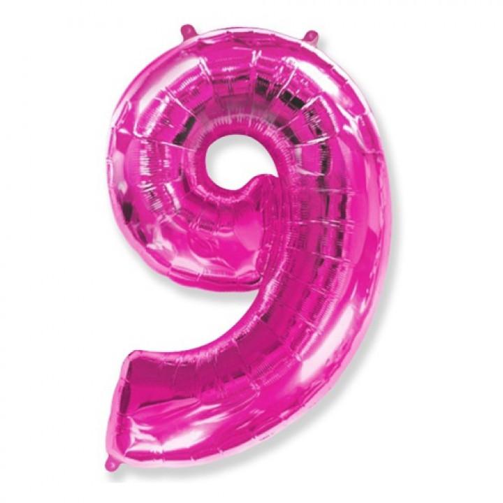 FM Фигура Цифра 9 розовая 36