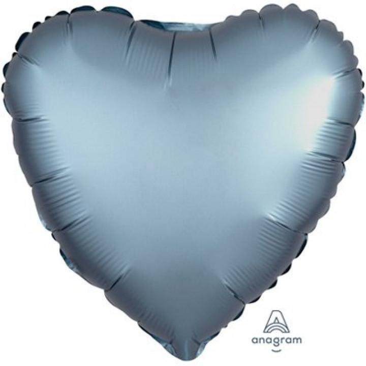 Сердце Сатин Steel Blue